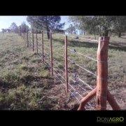 Alambrado de postes de quebracho 7 hilos (materiales x metro)