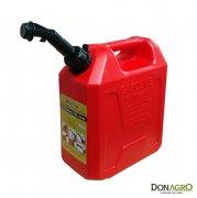 Bidon 10 litros rectangular con pico anti-derrame