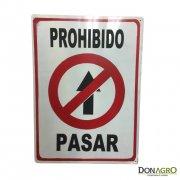 Cartel de prohibido pasar