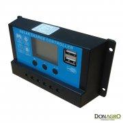 Regulador de voltaje carga solar 20 amp 12v / 24v SLC-NP2420C