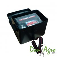 Caja porta Bateria hasta 75 Amp con tapa y correa