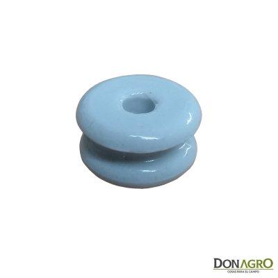 Aislador Carretel porcelana Don Agro
