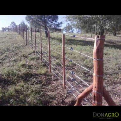 Alambrado de postes de quebracho 8 hilos (materiales x metro)