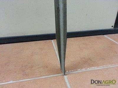Alambrado de postes metalicos Acindar 7 hilos (materiales x metro)