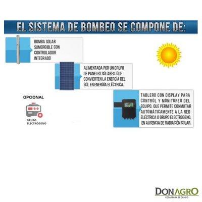 Bomba Solar Hibrida 30 mts 2