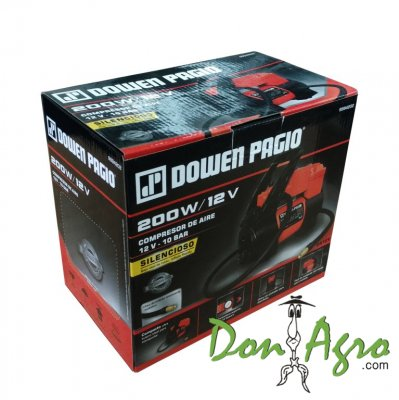 Compresor portatil 12v 10 bar Dowen Pagio
