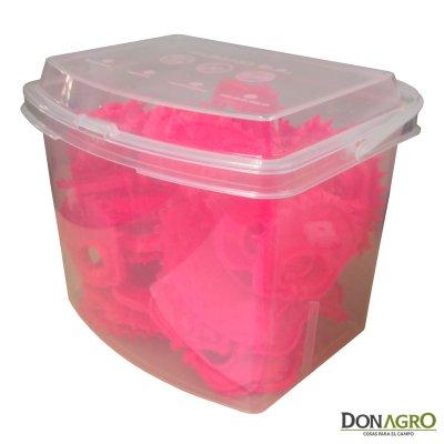 Destetador Plastico Rosa