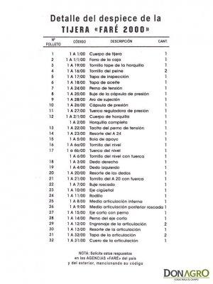 Esquiladora Faré 2000 220v  Motor 3/4 Tripa