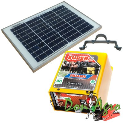 Kit Boyero Electrificador Solar Picana ENERTIK 40km 1.25j
