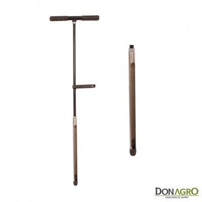 Muestreador de suelos simple con pie