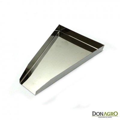 Palita triangular de acero
