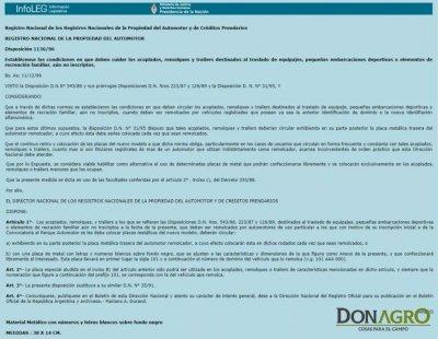 Patente para Carro Trailer Mercosur