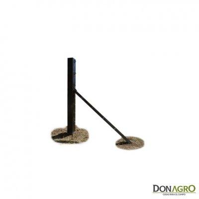 Poste esquinero simple hierro