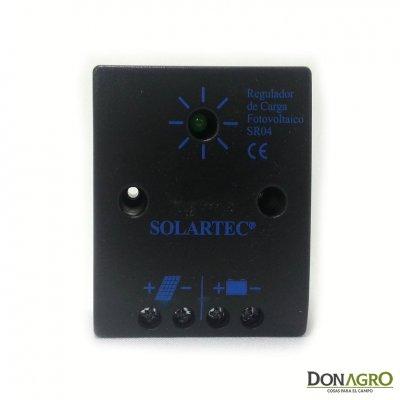 Regulador de voltaje carga solar 4 amp 12v SOLARTEC