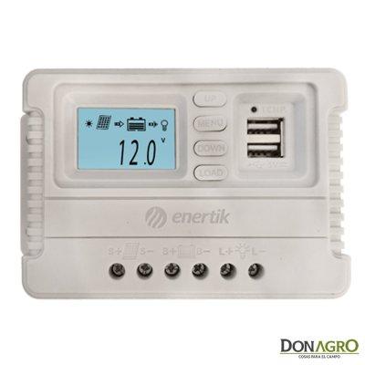 Regulador de Voltaje carga solar 40A 12v /24v Enertik CP-40-12/24