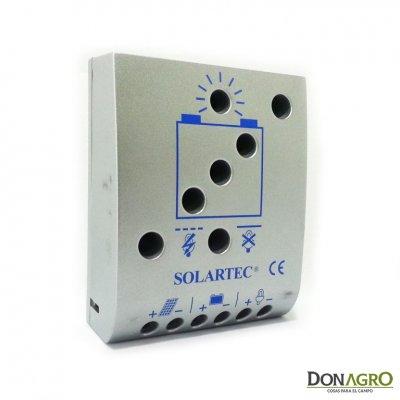Regulador de voltaje carga solar 5 amp 12v / 24v SOLARTEC