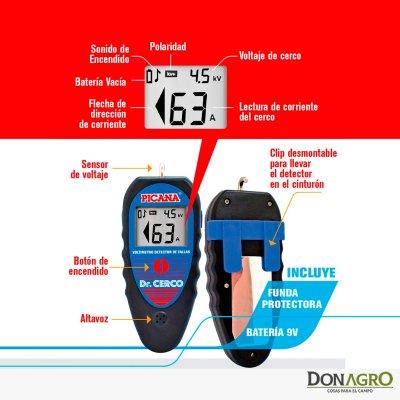 Voltimetro Digital con detector de fallas Picana Dr. Cerco